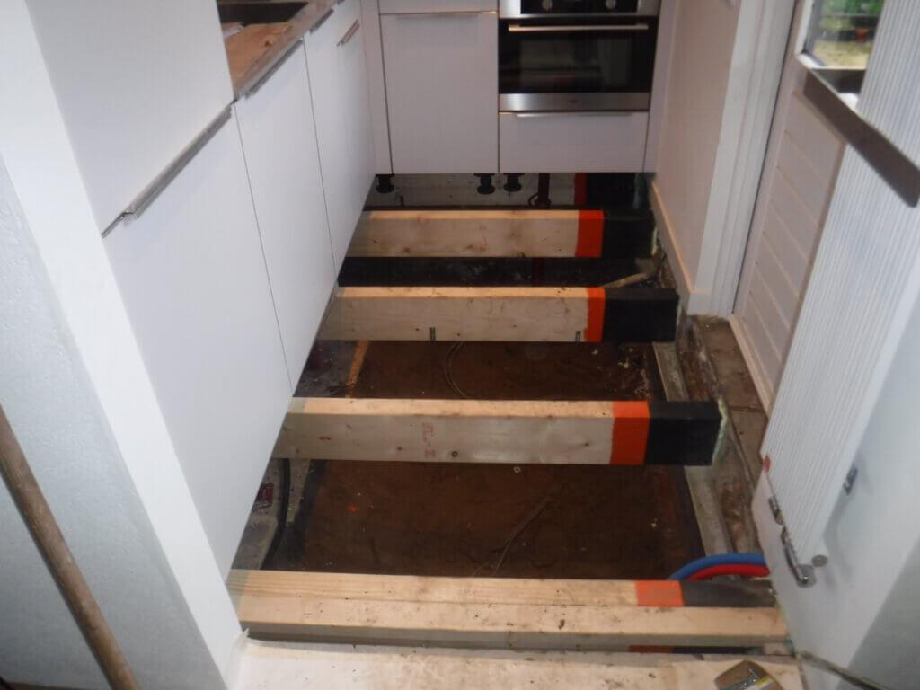 Open keukenvloer